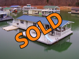 14 x 30 Floating Cabin Approx 420sqft 2 Bedroom 1 Bath For Sale on Norris Lake Tennessee at Whitman Hollow Marina