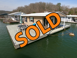 16 x 24 Floating Cabin (Approx 367sqft - 2 Bedroom - 1 Bath) For Sale on Norris Lake TN at Springs Dock Resort