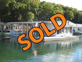 16 x 30 Floating House For Sale on Norris Lake at Shanghai Resort Marina