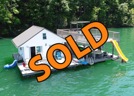 2-Story Floating Home and Dock For Sale at Sequoyah Marina on Norris Lake Tennessee