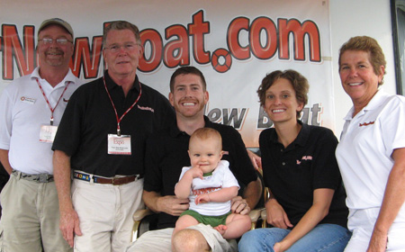 YourNewBoat.com Family Photo from 2009 On-Water Houseboat Expo