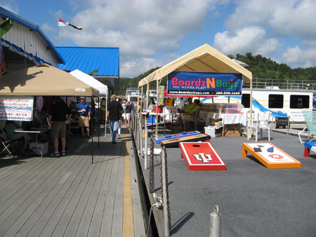 Cornhole at the On Water Houseboat Expo