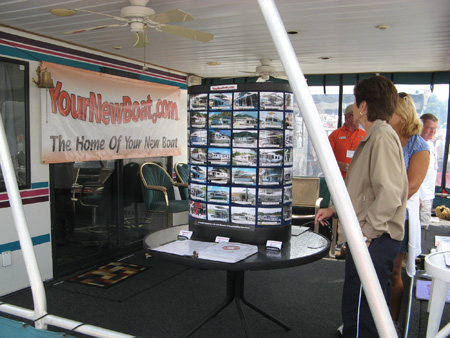 YourNewBoat.com's display at the 2009 On Water Houseboat Expo