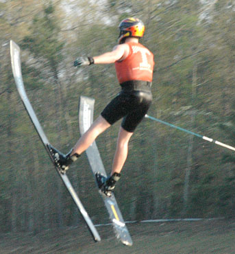 Houseboat Broker Travis Keller Water Ski Jumping for the University of Tennessee Water Ski Team