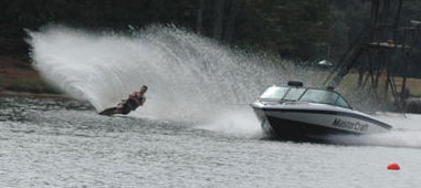 YourNewBoat.com Founder Travis Keller Slalom Skiing for the University of Tennessee Water Ski Team